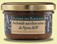 Anchoïade aux olives noires de Nyons AOP