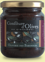 Confiture d'olive au gingembre