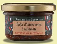 Pulpe d'olives noires à la tomate