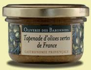 Tapenade d'olives vertes de France