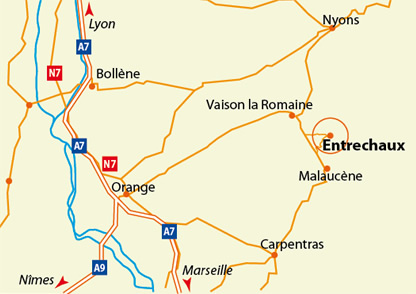 Champ de lavande au pied du Mont Ventoux